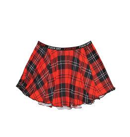 FL Fuck Off Plaid Skirt