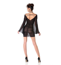 PC Opal Sheer Dress with Bell Sleeves