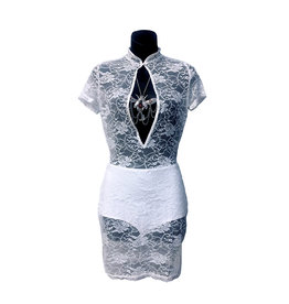 HOS Lace Dress with Open Front