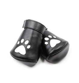 ETC Vegan Leather Wrist Mitts with Paw Print