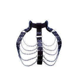 WF Leatherette Chain Halter Top