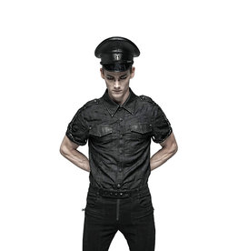 WF Punk Military Style Short Sleeve Shirt