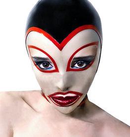 LNM Heart Face Transparent Black & Red Hood