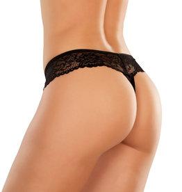ALI Chiqui Lace Crotchless Thong
