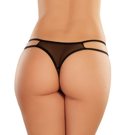 AL Sweet Honey Lace & Mesh Open Crotch Panty O/S