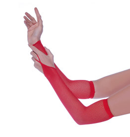 LGA Fishnet Arm Warmers