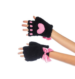 LGA Kitty Paw Fingerless Gloves O/S