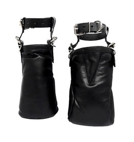 KO Leather Ankle Hoofs Black  Adjustable