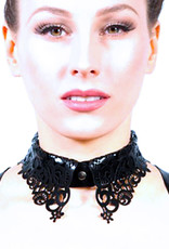 pd Latex Lace Shirt Collar with Front Snap