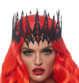 LGA Glitter Die Cut Jewelled Crown  O/S