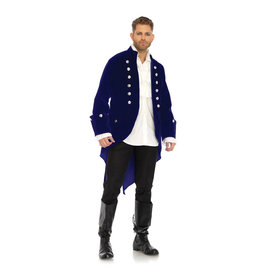 LGA Velvet Pirate Coat with Coin Buttons
