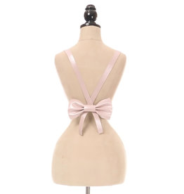 DC Light Pink Vegan Leather Bow Harness - Standard