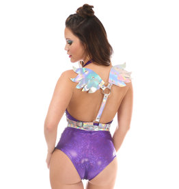DC Vegan Leather Body Harness with Wings