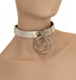 FPL Metal Collar with Double O Ring - Leather Lined O/S