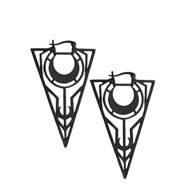 RES Black Moon Triangle Earrings