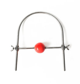 SMT Red Ball Gag with Steel Strap Adj