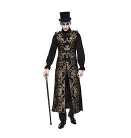 WF Gothic Brocade Long Military Vest