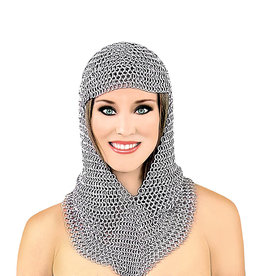 WF Long Chainmail Hood -Galvinised Iron