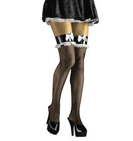 FN French Maid Fishnet Thigh High O/S