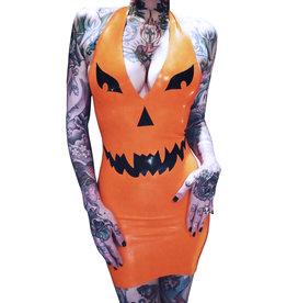 JDO Latex Pumpkin Mini Dress