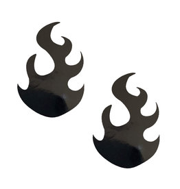 NN Dom Squad Black Wet Vinyl Edgy Flame Nipztix