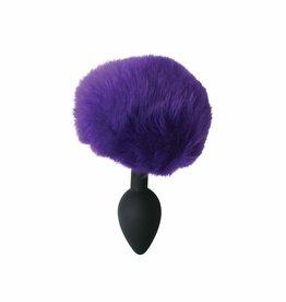 ECN Midnight Silicone Bunny Butt Plug Black & Purple