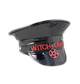 FPL Witch Craft Military Style Hat  Black Patent