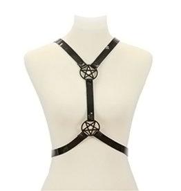 FPL Double Pentagram Vinyl Harness  Black Adjustable