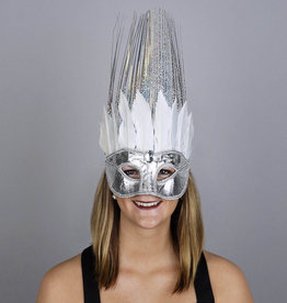 ZFP Ice Crown Mask with Goose Feathers