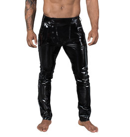 NH Mens Stretch PVC Pants with Snap Front