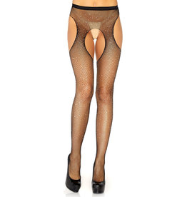 LGA Crystalized Fishnet Suspender Hose