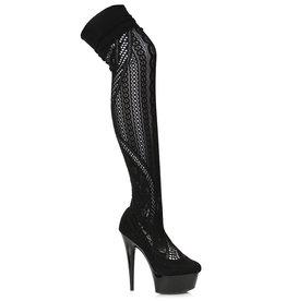 "ES Stiletto Stocking Thigh High Boot 6"""