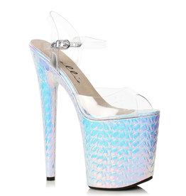 """ES Hologram Platform 8"""" Heel Sandal"""