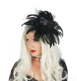 ZFP Black Widow Headband with Feathers