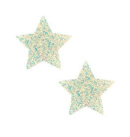 NN Super Sparkle White Iridescent Chunky Glitter Star Nipztix Pasties