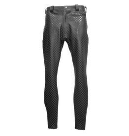 101 Chequer Textured Latex Skinny Jeans
