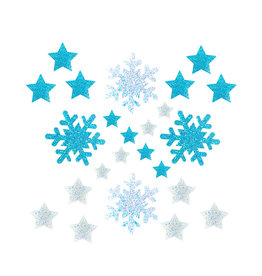 NN Super Sparkle White & Pegasus Tears Snowflake Star Sticker Top