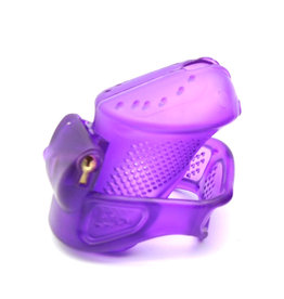 SMT Perforated ABS Cock Chastity Purple Short