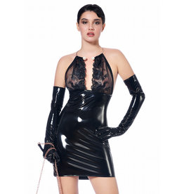 PC Polly PVC Dress with Gold Neck Cuff