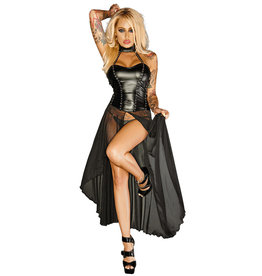 NH Power Wetlook Top with Attached Tulle Skirt