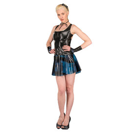 PMI Marbled Latex A Line Skirt