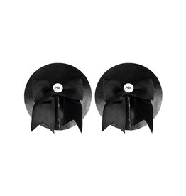XGN Black Patent Pasties with Bow