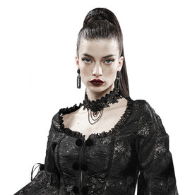 WF Rose & Thorn Gothic Lace Necklace