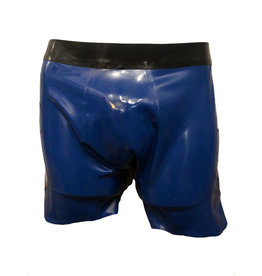 101 Latex Cycle Shorts with Contrast Waist Band