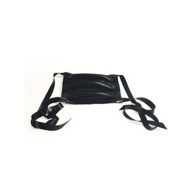 VEX Latex Fashion Medical Mask with Tie Straps Black O/S