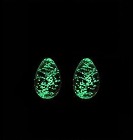 ECN Firefly Glass Kegel Eggs Glow In The Dark - Clear