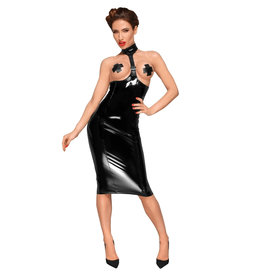 NH PVC Underbust Dress with Faux Leather Choker