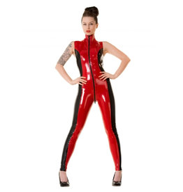 HON Sabrina Two Tone Latex Sleeveless Catsuit