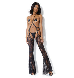COQ Bell Bottom Lace Chaps with Adjustable Halter Harness