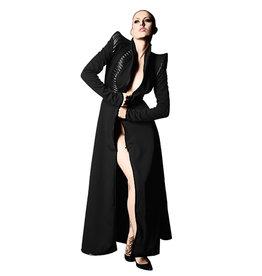 TW Zar Tailored Ladies Long Coat  S Black